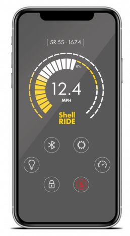 Isolated Image Of A Phone Featuring The Shell Ride App